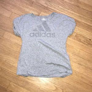 Girls gray adidas top